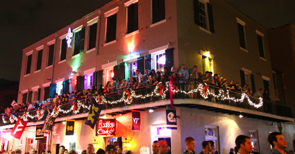 Top bars on bourbon street 28 images best bourbon for Balcony bar top