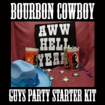 BOURBON COWBOY GUYS PARTY STARTER KIT