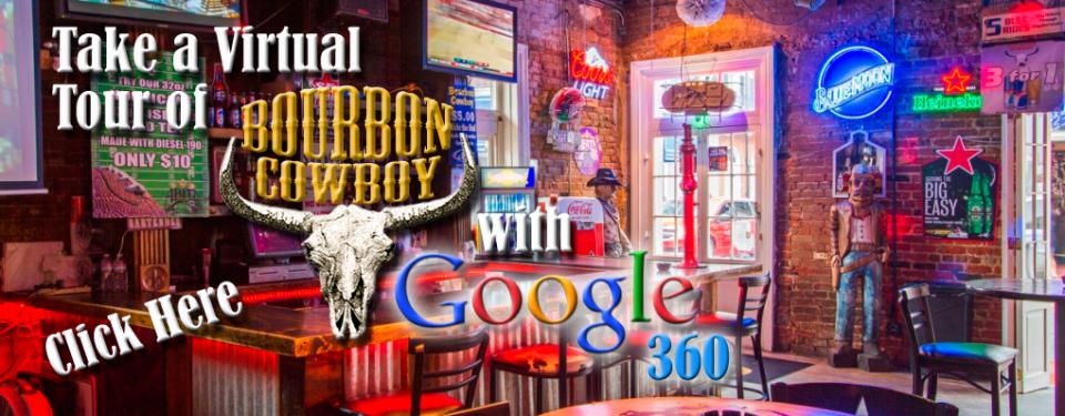 take a virtual tour of bourbon cowboy with google 360
