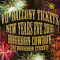 Bourbon Cowboy New Years Eve VIP Balcony Tickets