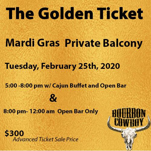 Best Bourbon 2020 MG Golden Ticket 2/25(5pm 12am)   Bourbon' Best BarsBourbon' Best Bars