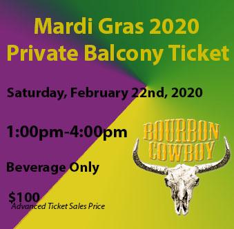 mardi gras balcony rental Mardi Gras Balcony 2 22 201pm 4pm Bourbon Best Bars